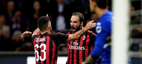 Игуаин приносит 3 очка Милану. Милан-Спал (2-1). Отчёт