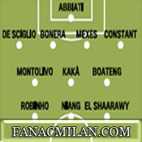 Стартовые составы команд: Милан-Боруссия Дортмунд.