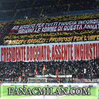 Баннер болельщиков во время матча Торино-Милан: