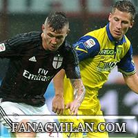 Милан - Кьево: 1-0, отчёт