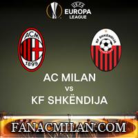 Милан - Шкендия: 6-0, отчёт