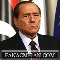 Берлускони на трибунах Сан-Сиро: