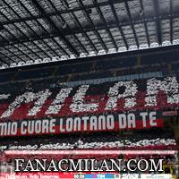 Curva Sud повесила баннер на матче Милан-Кальяри против Ньянга (фото).
